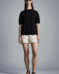 Moncler Pantalones Talle Alto - Blanco