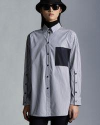 Moncler Camicia A Righe - Blu
