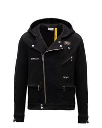 7 Moncler Frgmt Hiroshi Fujiwara Moncler Motorcycle Sweatshirt - Black