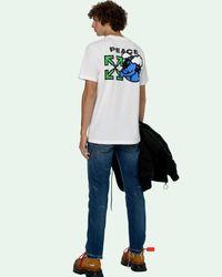 Off-White c/o Virgil Abloh Peace Worldwide Tシャツ - ホワイト