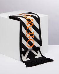 Off-White c/o Virgil Abloh Diag Stripe 靴下 - ブラック