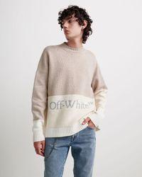 Off-White c/o Virgil Abloh カラーブロック セーター - グレー