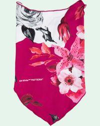 Off-White c/o Virgil Abloh Bandana a fiori - Rosa
