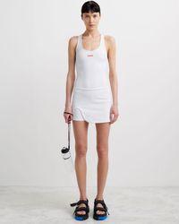 Off-White c/o Virgil Abloh Active ロゴ レーサーバック ドレス - ホワイト