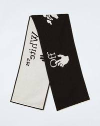 Off-White c/o Virgil Abloh Écharpe à logo - Noir
