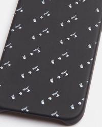 Off-White c/o Virgil Abloh Funda para iPhone 12/12 Pro con motivo del logo - Negro
