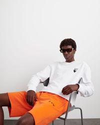 Off-White c/o Virgil Abloh ロゴ トラックショーツ - オレンジ