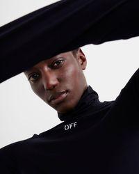 Off-White c/o Virgil Abloh ハイネック ロングtシャツ - ブラック