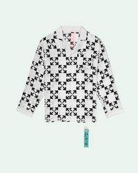 Off-White c/o Virgil Abloh Arrow Pattern Silk Pajama - White