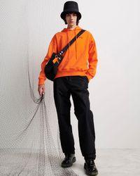 Off-White c/o Virgil Abloh Sudadera con detalle del logo - Naranja