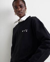 Off-White c/o Virgil Abloh ロゴ スウェットシャツ - ブラック