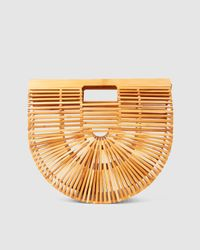Cult Gaia Gaia's Ark Large Bamboo Clutch - Brown