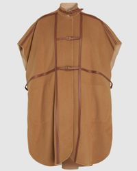Burberry Wool-blend Cape - Brown