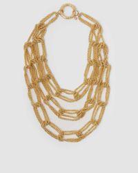 Rosantica Layered Gold-tone Chain Necklace - Metallic