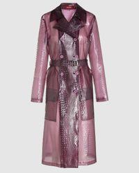 Sies Marjan Nisa Embossed Plastic Trenchcoat - Purple