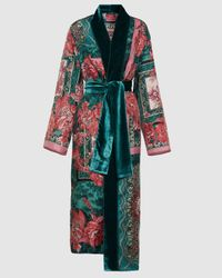 F.R.S For Restless Sleepers Nomos Scarf Print Robe - Multicolour