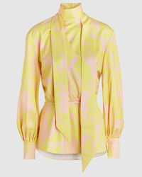 LAYEUR Printed Lily Top - Yellow