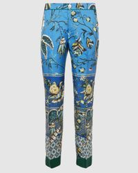 F.R.S For Restless Sleepers Ceo Printed Silk Pants - Blue
