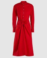 Proenza Schouler Tied Shirt Dress - Red