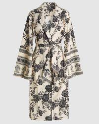 Johanna Ortiz Two Seasons Floral-print Kimono - Black