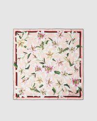 Dolce & Gabbana Printed Silk Scarf - Pink