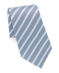 Vince Camuto | Gray Striped Silk Tie for Men | Lyst