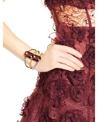 Oscar de la Renta | Purple Bordeaux Large Octagon Stone Bracelet | Lyst