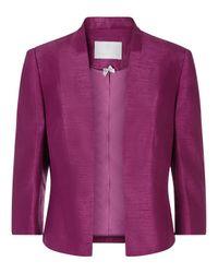 Jacques Vert Purple Edge To Edge Jacket
