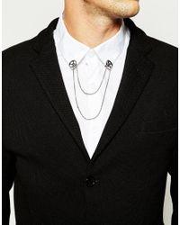 ASOS - Metallic Geo Circle Collar Tips for Men - Lyst