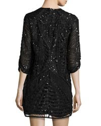 Parker Black - Black Petra Sequin-Embellished Dress - Lyst