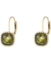 The Sak - Green Cushion Stone Leverback Earrings - Lyst