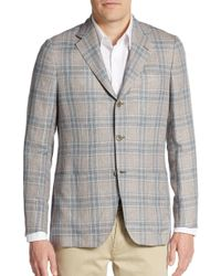 Kiton | Natural Regular-fit Glen Plaid Cashmere-blend Sportcoat for Men | Lyst