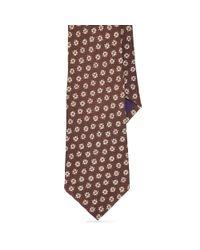 Ralph Lauren Purple Label - Brown Art Deco Linen Tie for Men - Lyst