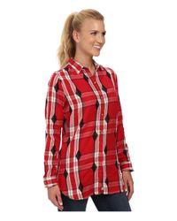 Woolrich Red First Light Jacquard Shirt