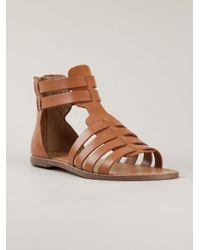 Kelsi Dagger Brooklyn Brown Sarong Calf Leather Sandals