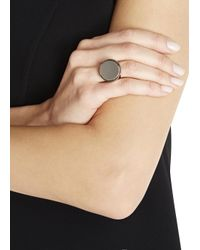 Givenchy | Metallic Pale Gold Tone Brass Signet Ring | Lyst