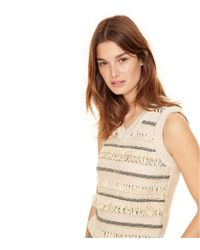 Tory Burch - Natural Jacquard Sweater Vest - Lyst