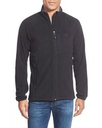 Adidas | Black 'reach Out' Zip Fleece Jacket for Men | Lyst
