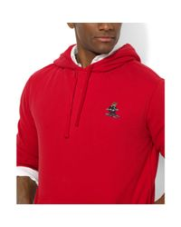 Ralph Lauren - Red Polo Bear Fleece Pullover Hoodie for Men - Lyst