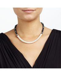 John Lewis - Black Split Effect Bead Necklace - Lyst