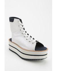 Adidas White Blue Platform Sneaker