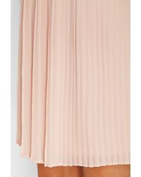 Forever 21 Pink Lush Lace Pleated Dress