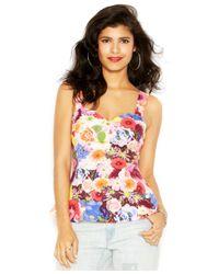 Guess - Multicolor Floral T-shirt - Lyst
