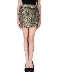 Alice + Olivia - Metallic Alice+Olivia Mini Skirt - Lyst