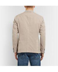 Incotex Natural Slim-Fit Garment-Dyed Cotton Blazer for men