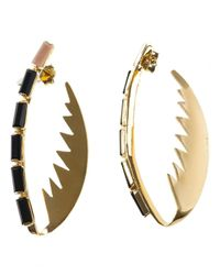 Wouters & Hendrix - Black Serated Claw Earrings - Lyst