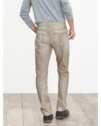 Banana Republic | Natural Heritage Slim Distressed Khaki Jean for Men | Lyst