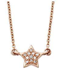 Astley Clarke - Metallic Rose Gold Pave Diamond A Little Light Necklace - Lyst