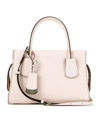 Tod's Pink Note Small Leather Tote