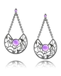Ralph Masri - Purple Lattice Long Earrings Amethyst - Lyst